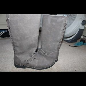 Children's Place Grey zipper boots